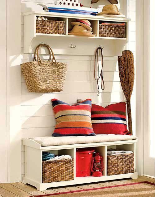 田园美式玄关沙发沙发垫玄关柜柜子装修效果展示