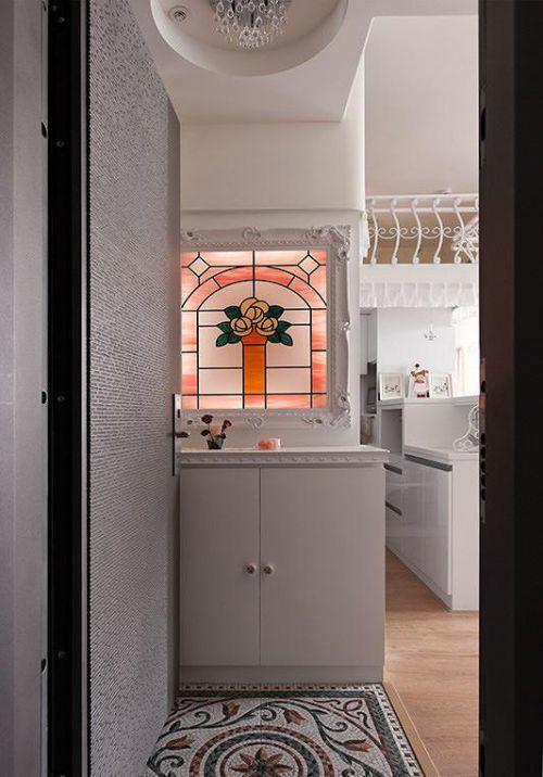 現代簡約簡歐玄關玄關柜裝修案例