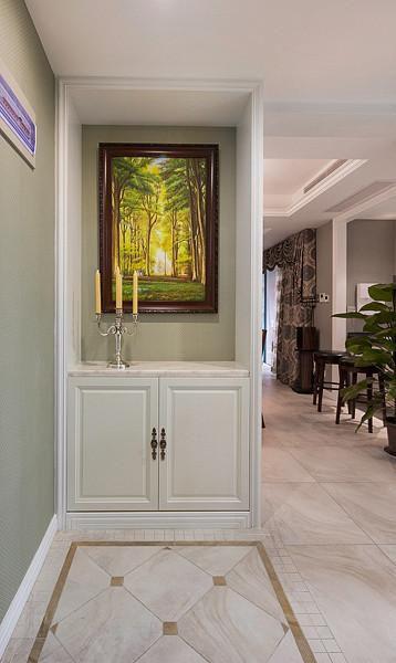 新古典美式混搭精致玄关玄关柜案例展示