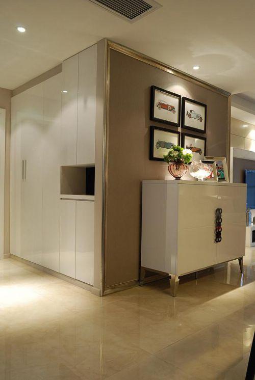 现代简约中式混搭玄关玄关柜设计案例