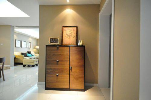 现代简约美式混搭玄关玄关柜设计案例展示
