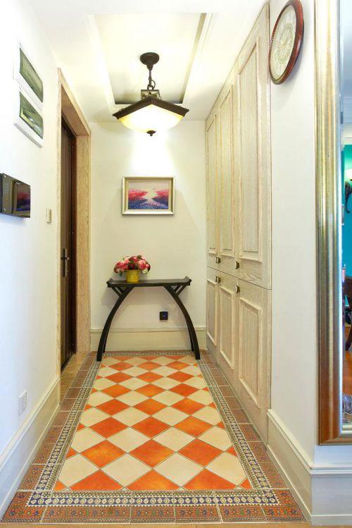 美式混搭复古玄关玄关柜图片