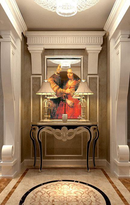 欧式玄关玄关柜装修图