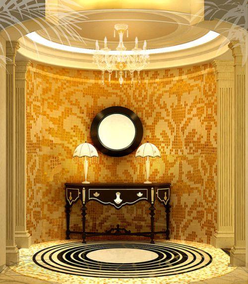 欧式古典玄关玄关柜设计案例展示