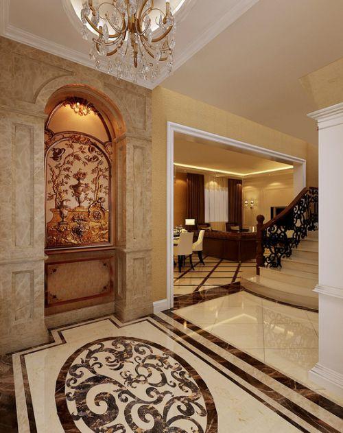 欧式玄关玄关柜设计方案