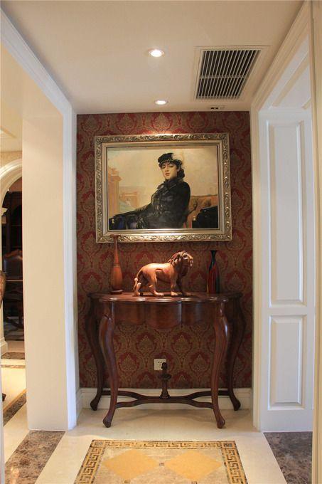 欧式玄关玄关柜图片