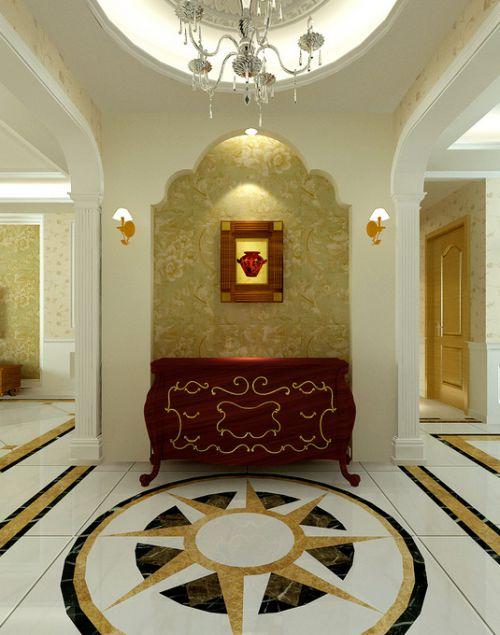 欧式玄关吊顶玄关柜设计方案
