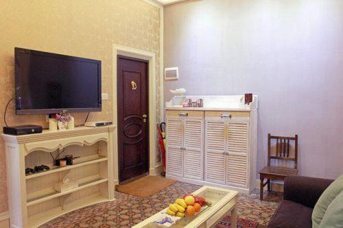 欧式卧室玄关电视柜台灯玄关柜设计案例