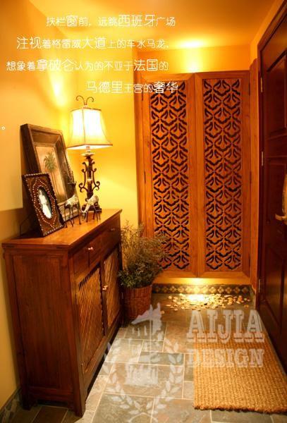 中式欧式地中海玄关玄关柜设计图