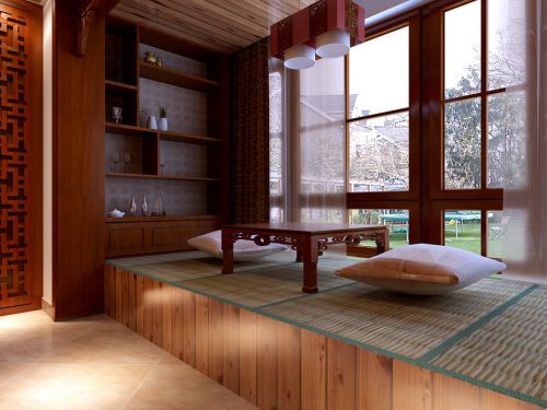 中式中式风格阳台榻榻米设计图