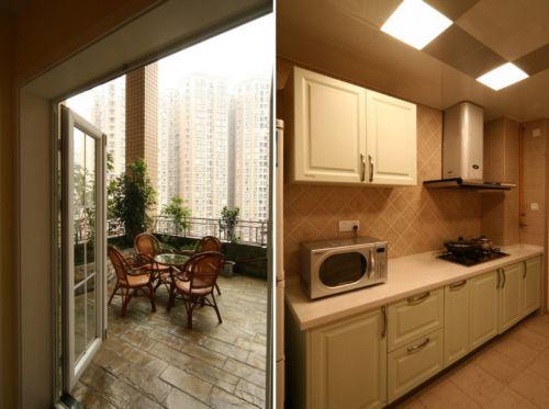 美式厨房阳台复式楼图片