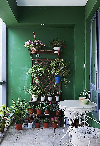 现代简约美式阳台装修案例
