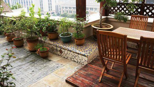 中式田园日式混搭复古阳台图片