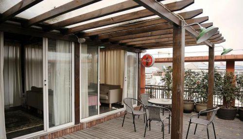 现代简约田园美式阳台装修图