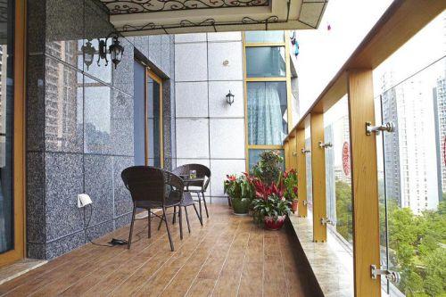 地中海美式混搭阳台装修图
