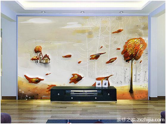 硅藻泥电视背景墙