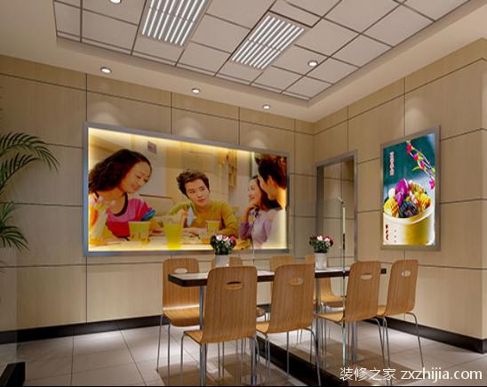 快餐店装修设计效果图