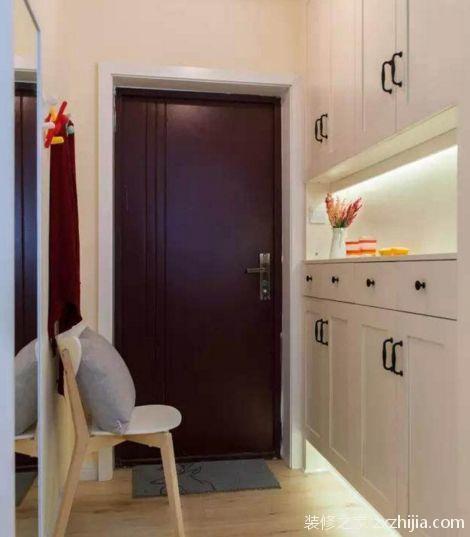 玄关装修的美观实用,卫生间装修的经济实用,新家在朋友圈火了