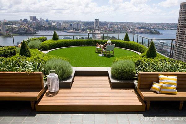 60平方楼顶花园实景