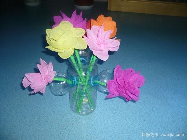 饮料瓶手工制作花瓶