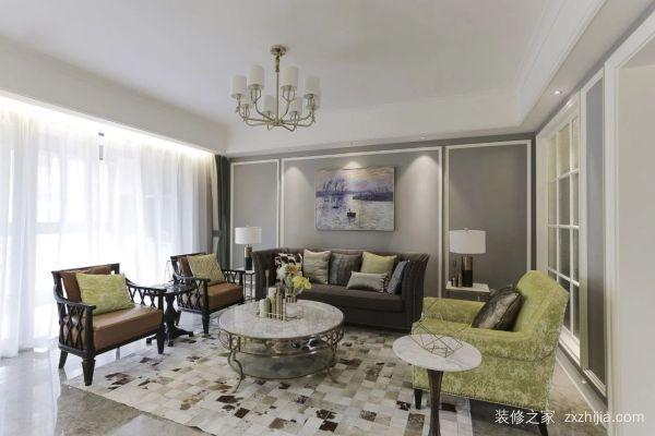 132㎡现代美式,有钢琴和书房的大客厅很高大尚!