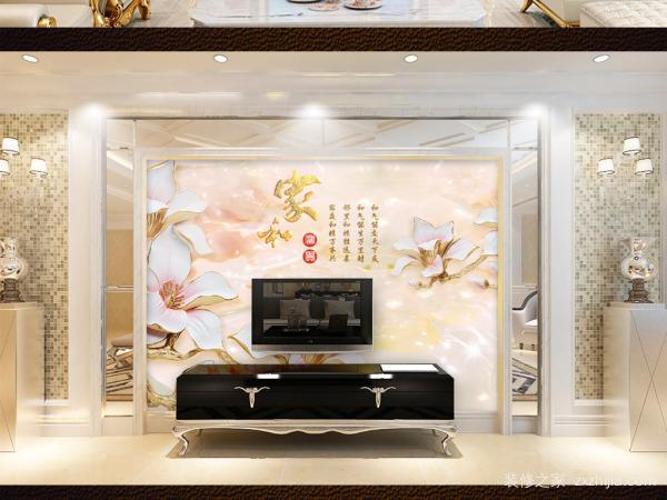 玉石浮雕电视背景墙