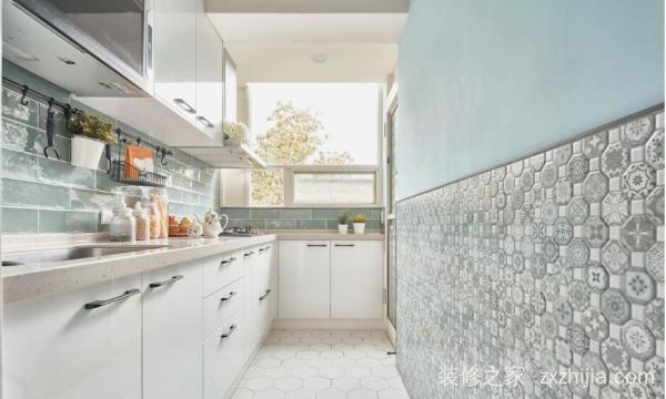 装修厨房瓷砖颜色搭配效果图