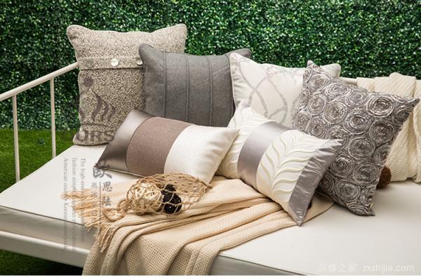 布匹艺沙发靠枕