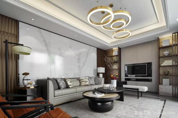新中式别墅装修设计,演绎出传统的人文情怀