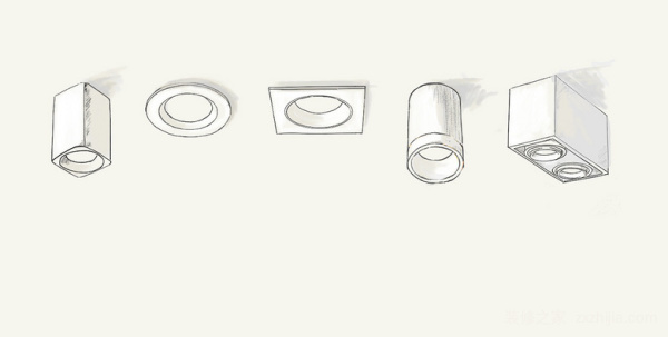漫画讲灯:筒灯和射灯的区别