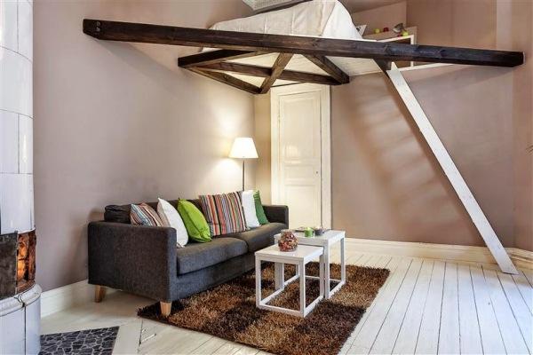 客厅卧室一体装修效果图