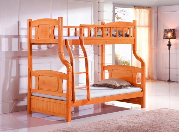 实木双层床