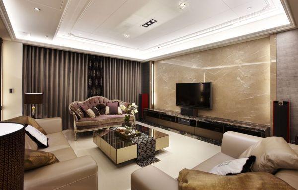 石膏线电视墙怎么装修呢