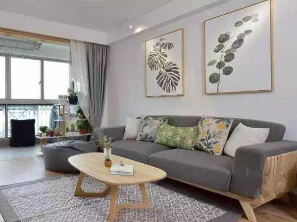 客厅木质花架