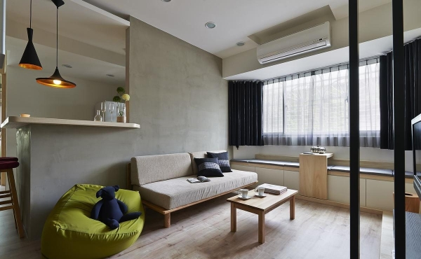 木頭布藝沙發