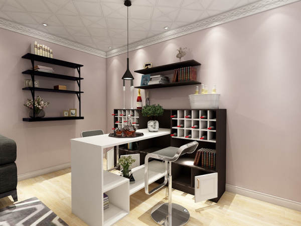 神台装修图片_客厅酒柜神台一体的设计_欧式家具客厅_洒柜客厅酒柜_酒柜客厅靠墙