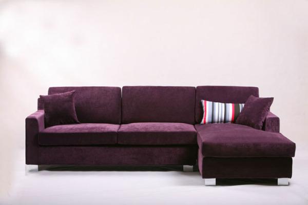 紫色布艺沙发