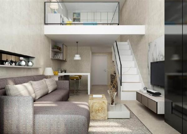 复式公寓w88效果图