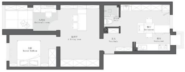 套内60㎡,去客厅化设计,全屋简约通透,一家三口住太舒适了