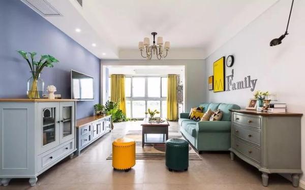 83平的小户型三房,美式风中的小清新,真漂亮呀