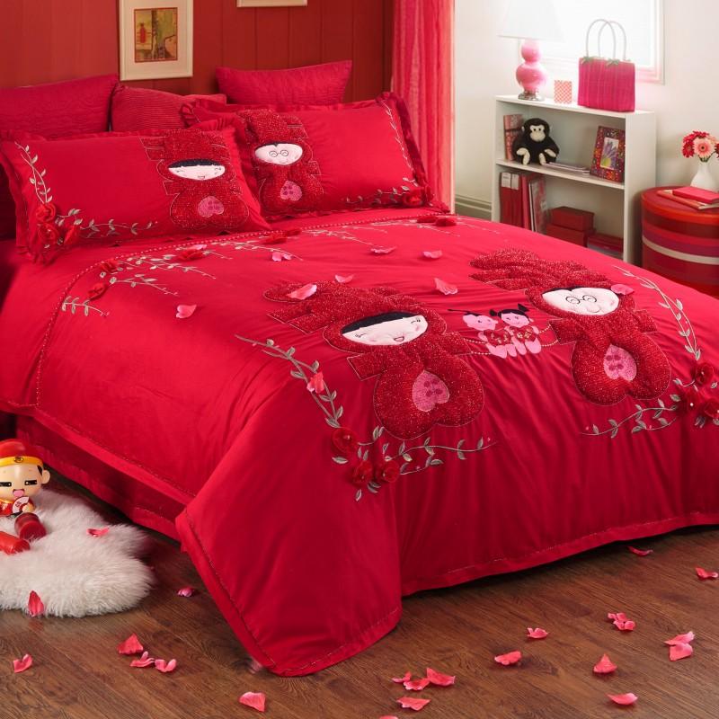 结婚床上用品四件套厂家 结婚床上四件套价格