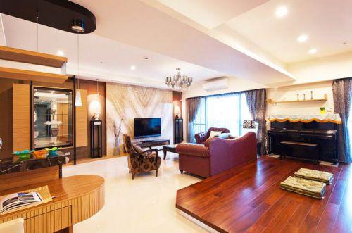 豪华新中式设计 四居公寓宽敞大气