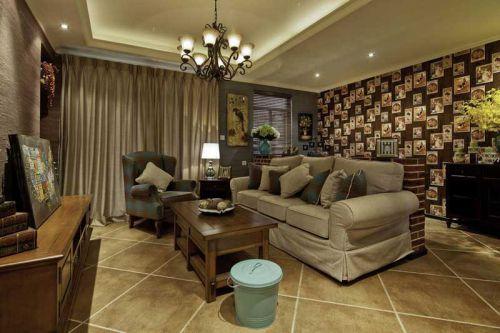 90平复古美式三居装修 质朴的极致是精致