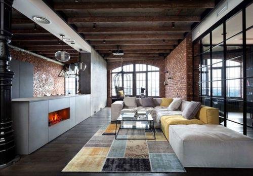 怀旧工业风公寓很有文艺感  让人心安心静的空间