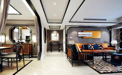新中式四房装修  很特别的色彩搭配