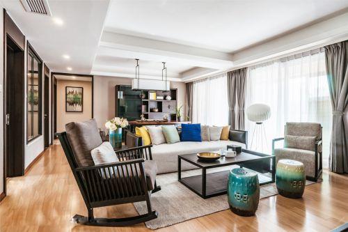 新中式四房公寓装修  空间大更敞亮