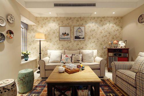 美翻了的碎花三居室  美式风格的另一种表达