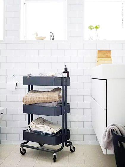 收放自如  10个卫生间收纳设计图片
