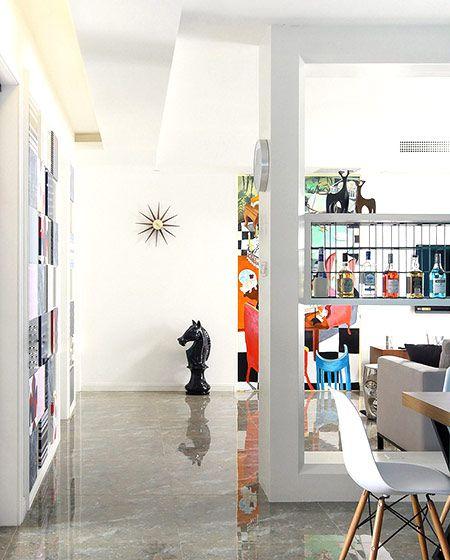 130平混搭风格三居室装修 生活就像调色盘