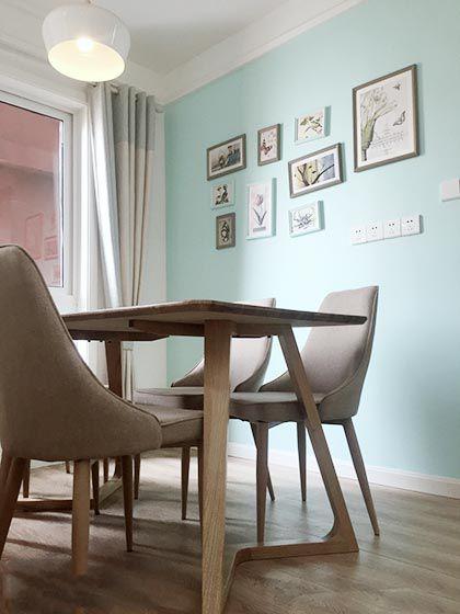 85㎡北欧风格两居室效果图  清新优雅